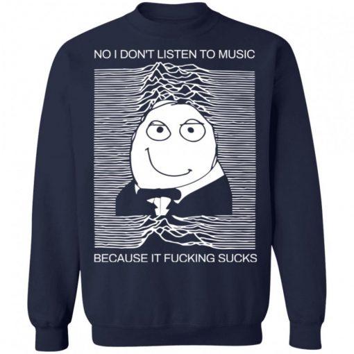 No I Dont Listen To Music Because It Fucking Sucks Shirt 221067 10.jpg