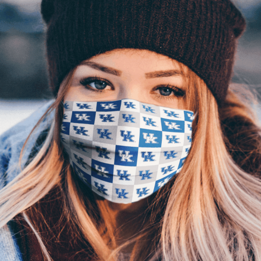 Kentucky Wildcats Logo Cloth Face Mask Made In Usa