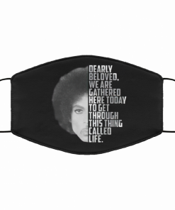 Prince Dearly Beloved We Are Gathered Here Today Face Mask 161295