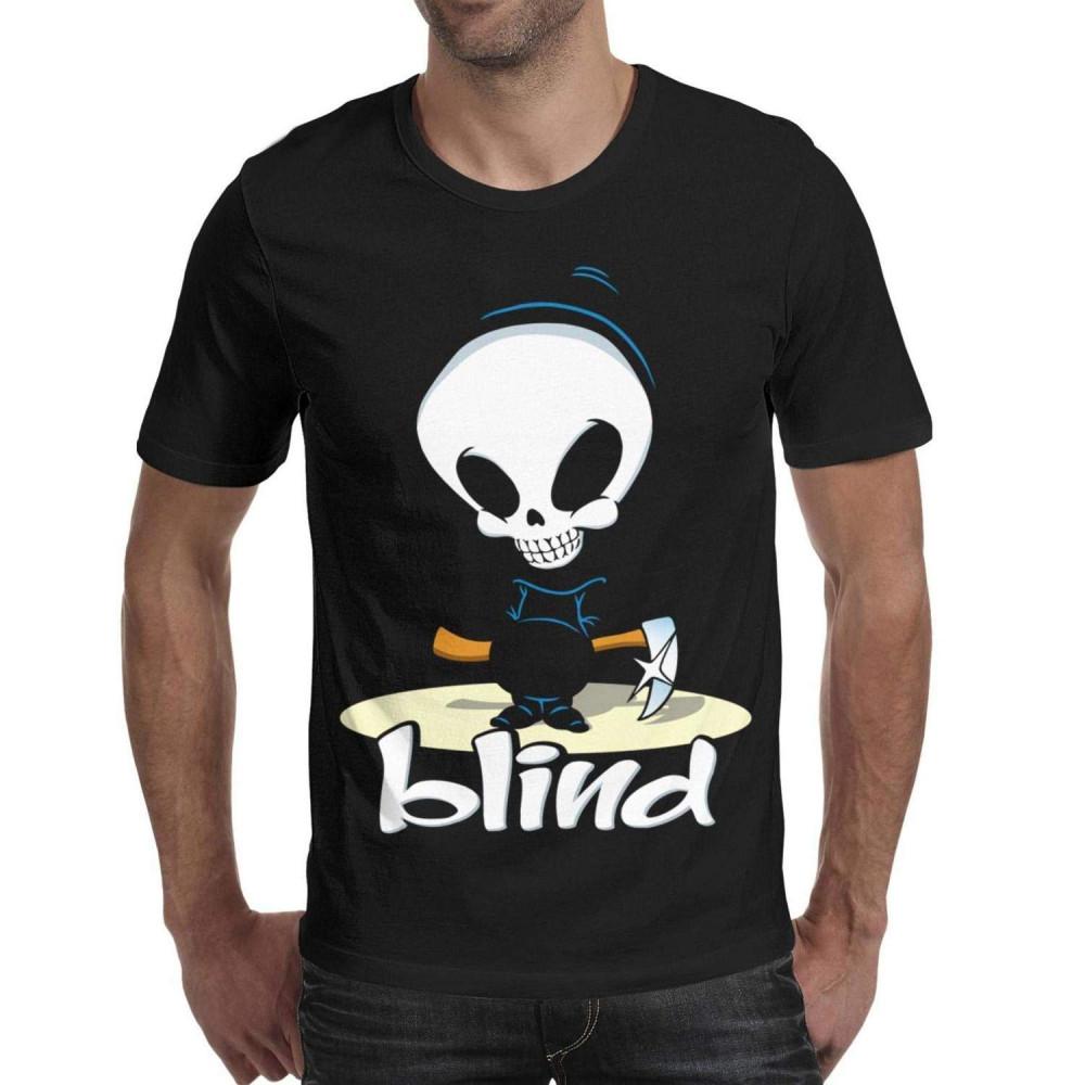 Blind Skateboards Logo Skateboard Short Sleeve T Shirt