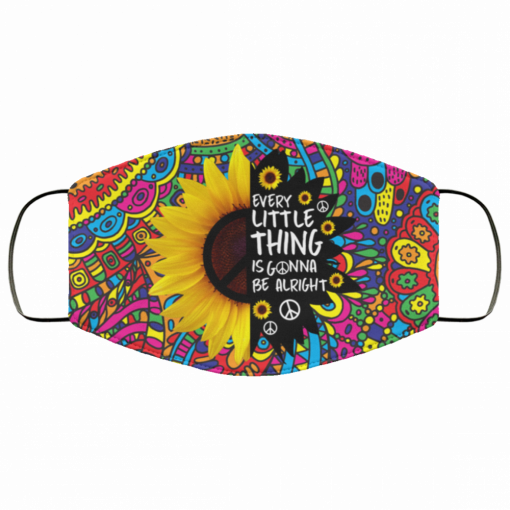Hippie Sunflower Everything Is Gonna Be Alright Face Mask 162170